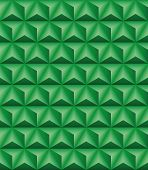 image of triangular pyramids  - Abstract pattern of green trihedral pyramids - JPG