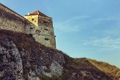 Medieval Tower And Defence Walls Of Rasnov Citadel