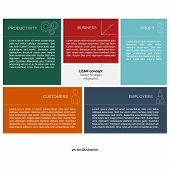 Lean Concept - Flat Infographics Design Template