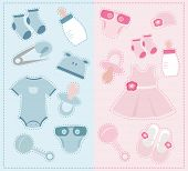 Baby accessories and clothes set