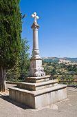 Stone cross. Guardia Perticara. Basilicata. Italy.