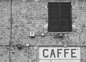 Coffee Sign In Italy