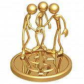 Teamwork Golden Dollar Coin