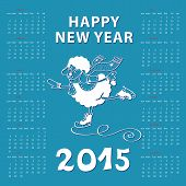 foto of counting sheep  - Calendar new Year 2015 - JPG