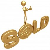 Sold Thumbs Up On Gold Euro Coin