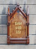 Decorative Wooden Sign - Love With Life
