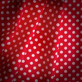 Canvas Texture Or Background. Tablecloth View From Top.