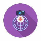 Photo download single icon.