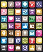 Set Of Social Media Buttons For Design