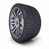 One Car Wheel