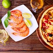 Pizza With Seafood.