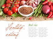 Red Organic Rice And Vegetables