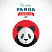 Weekly Panda Cute Flat Animal Icon - Angry