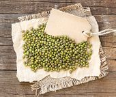 Mung Beans And Paper Label