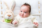 Baby With Toy Bunny