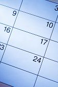 Blank Calendar With Generic Date Squares