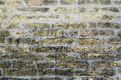Ancient City Wall Of Pale Yellow Brick