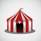 Vector circus tent on a bright background