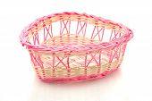 Valentines Day - Pink Woven Basket