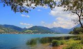 Beautiful Lake Shore Tegernsee And View To The Alps