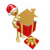 Christmas Gift Golden Home