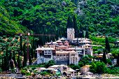 The Holy Monastery Of Docheiariou At Mount Athos Greece