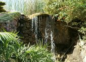 Small waterfall in the park