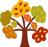 Autumn Tree, Fall Tree, Tree Vector