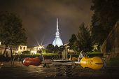 foto of turin  - Playground in Turin with the Mole Antonelliana in the background - JPG