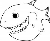 Outline Cartoon Fish