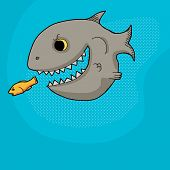 Fish Chasing Prey