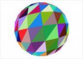 3D multicolored geometric sphere
