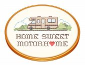 picture of cross-hatch  - Home Sweet Motor home with a big heart - JPG