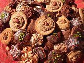 Assortment Of Handmade Wholemeal Christmas Cookies