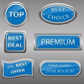 Vector seals-stickers set