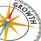 Compass With Growth Word