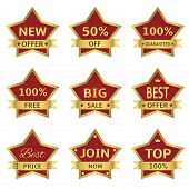 red stars labels