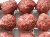 meat balls in plastic container
