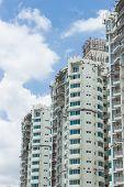 Real Estate Condominium Business Building Blue Sky
