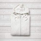 White Hoodie On White Wood Background