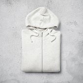 White Hoodie On Concrete Background