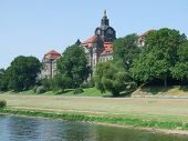 Historic Building At River Elbe