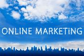 Online Marketing Text On Cloud