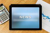 News Word On Digital Tablet