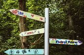 Flower Power Signpost
