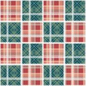 Abstract Seamless Lace Checkered Plaid Pattern