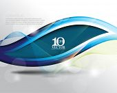 eps10 vector elegant blue wave frame with strings business background