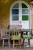 Colorful Wooden Chair