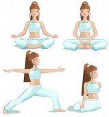 Set girl yoga pose