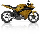 Motorcycle Motorbike Bike Riding Rider Contemporary Brown Concept